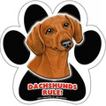 Dachshunds Rule – Smooth Red – Paw Shaped Magnetic Bumper