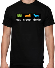Limited Edition Price - Eat Sleep Doxie Black Tee Shirt