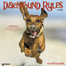 2018 Dachshund Rules 12x12 Large 18 Month Calendar
