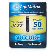 WaveSense Jazz Blood Glucose test strips (x50)
