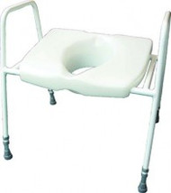 Batriatric Raised Toilet Seat with Frame BTA03