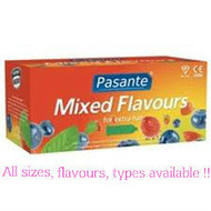 Pasante  Mixed Flavours Condoms x 144 (Bulk Pack)
