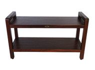 "Eleganto™ Teak Shower Bench- Extended 35"" Length With Arms- DT110"