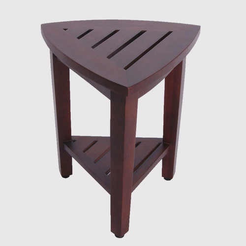 teak shower bench corner compact