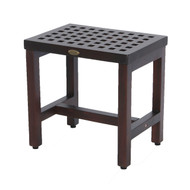 "DecoTeak Espalier 18"" Lattice Teak Shower Bench - DT180"