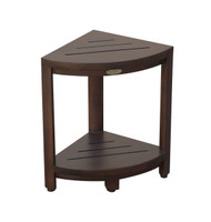 Oasis™ Corner 2-Tier Teak Shower Shaving Foot Stool- DT130