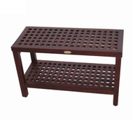 "teak grate shower bench 30"" DT158"