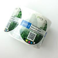 Transparent Clear Bioplastic Water Resistant Compostable Labels