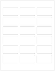 "2.375"" x 1.25"" Rectangle Labels, Blank [25 Sheets/450 Labels]"