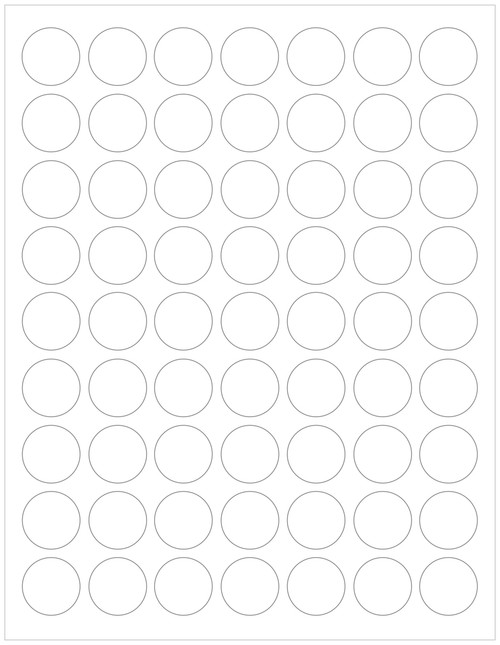 "White compostable or recycled 1"" circle labels sheets"