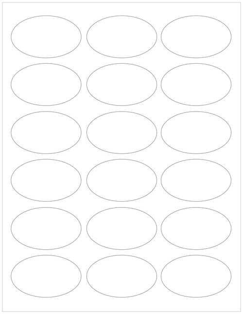 white compostable or recycled eco-friendly oval labels