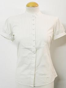 Bib Front Shirt - Ecru