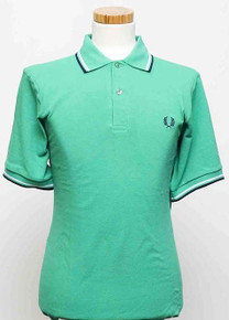 Original Twin Tipped Polo Shirt - Emerald/White/Navy