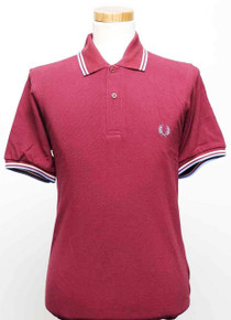 Original Twin Tipped Polo Shirt - Maroon / White / Ice