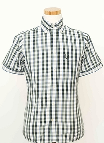 Short Sleeved Tartan Shirt - Snow