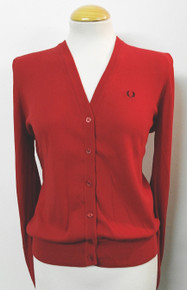 Limited Edition VNeck Cotton Cardigan - Red