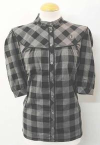 Yoke Detail Short Sleeved Shirt - Black