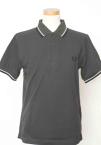 Original Twin Tipped Polo Shirt - Anthracite / Porcelain / Black