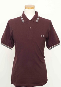 Original Twin Tipped Polo Shirt - Mahogany/Rosedust/Grey