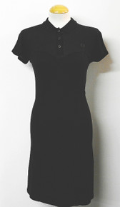 Bustier Shirt Dress - Black