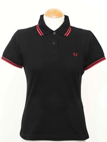 Original Twin Tipped Polo - Black / Terracotta