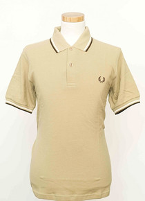 Original Twin Tipped Polo Shirt - Biscuit/Snow/Chocolate