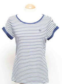 Yarn Dyed Stripe T Shirt - Navy