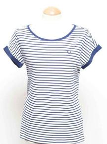 Yarn Dyed Stripe T Shirt - Navy