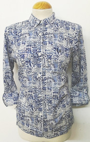 Liberty Print Shirt - Inky Blue