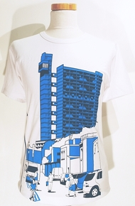 Trellick Tower T Shirt - White