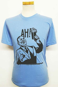 Ah Beer! T Shirt - Light Blue