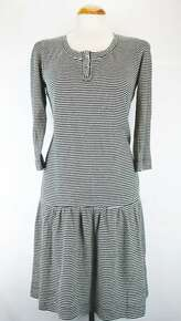 Patsy Tunic Dress - Black / White Stripe