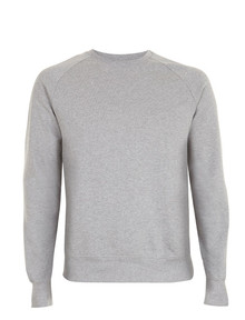 Organic Raglan Sweatshirt - Light Heather