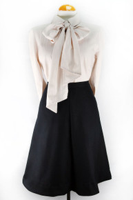 Bow Tie Blouse - Peach
