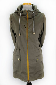 Organic Cotton Parka (Womens) - Army