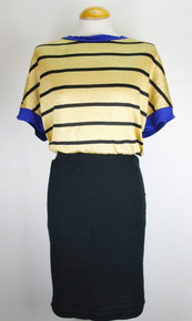 Lurex Dress - Gold / Blue