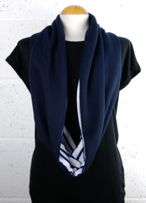 Loop Jersey Scarf - Navy / Stripe