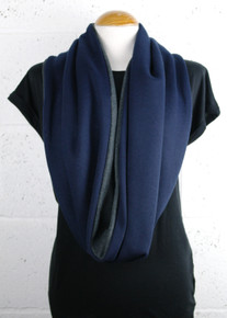 Loop Jersey Scarf - Navy / Grey