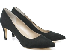 Smart Court Heel Faux Suede - Black