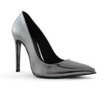Metallic Sheen Heel - Silver