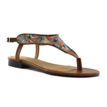 Toe Strap Sandal - Lime Flower