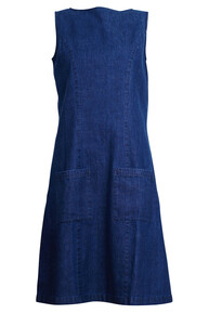 Casual Pinafore - Denim Blue