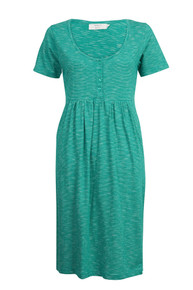 Organic Slub Dress - Kingfisher