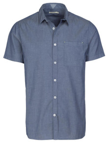 Leroy Shirt  - Mid Blue Stripe