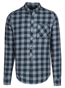 Benedict Organic Checked Shirt - Blueberry