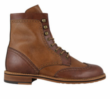 FAIR Brogue Boot - Tan / Brown