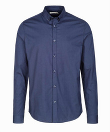 Jacob Smart Organic  Shirt - Navy