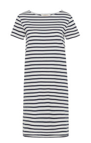 Nita Stripe Dress - Navy / White