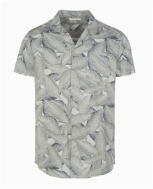 Edgar Tobacco Leaf Shirt - Graphite Green