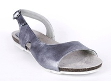 Curved Flat Sandal  - Silver